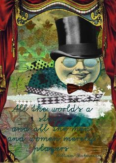 all the world's a stage by ulla420, Art Journal Caravan 2013