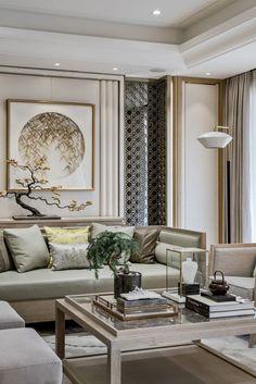 Asian Living Rooms, Elegant Living Room, Cozy Living, Oriental Living Room Decor, Oriental Bedroom, Oriental Decor, Formal Living Rooms, Asian Home Decor, Elegant Home Decor