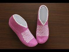 U-förmige nahtlose Easy Socks Booties mit 2 Nadeln – Mitgift Booties - Schuhe Ballerinas, Knitting Socks, Sock Shoes, Lana, Slippers, Booty, Youtube Youtube, Mavis, Ankle Boots