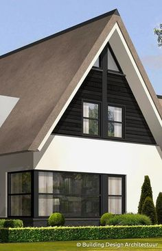 Building Design Architectuur Best Tiny House, Tiny House Cabin, Cute House, Residential Architecture, Modern Architecture, Building Design, Building A House, Bungalow Renovation, Home Exterior Makeover