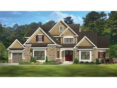 Floor Plan AFLFPW77001 is a beautiful 2940 square foot  New American  home design with 3 Garage Bays