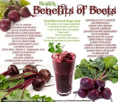 Organic beets, beet juice and beat leaves provide many health benefits to the body. Beets belong to the chenopod family which also include chard, spinach and quinoa. This food family continu. Health And Nutrition, Health And Wellness, Health Tips, Beet Nutrition Facts, Health Care, Health Unit, Health Fitness, Nutrition Shakes, Peanuts