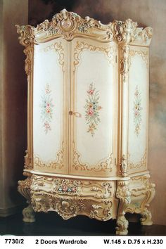 WARDROBE Royal Furniture, Victorian Furniture, Shabby Chic Furniture, Luxury Furniture, Antique Furniture, Painted Furniture, Furniture Design, Baroque Decor, Dream Home Design
