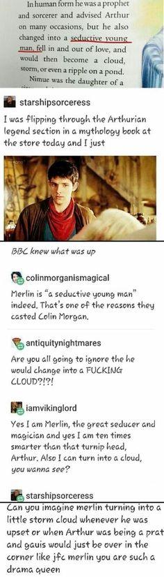 "merthur, merlin, arthur ""Jfc merlin you are such a drama queen"" Merlin Memes, Merlin Funny, Merlin Merlin, Merlin Fandom, Merlin Colin Morgan, Merlin And Arthur, Fandoms, Superwholock, Movies And Tv Shows"