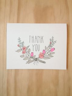 Thank you Florals by HartlandBrooklyn on Etsy, $4.50