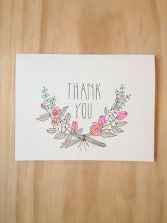 Thank you Florals by HartlandBrooklyn on Etsy, $4.50