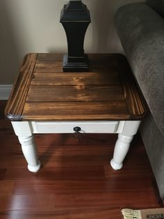 Beautiful rustic solid pine coffee and end tables will add character and charm to your home or cottage. Painted in a 50/50 blend of Annie Sloan chalk paint of Old White and Pure White. The tables have been lightly distressed and clear waxed. The tops have been refinished in a dark walnut stain and top coated emphasizing the natural character and grain of the wood.