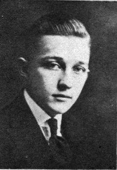 "Harry Lillis ""Bing"" Crosby. Gonzaga University Dramatic Club, 1922"