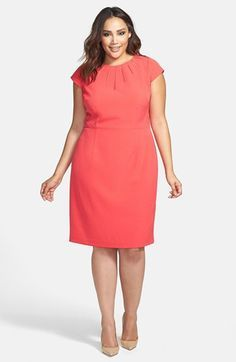 Adrianna Papell Cutout Cap Sleeve Sheath Dress (Plus Size) available at #Nordstrom