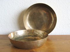 Brass Bowls-Set of 2 by MarketHome on Etsy