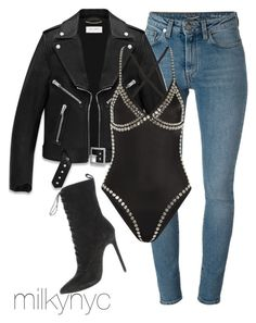 Untitled #699 by mizzbehave on Polyvore featuring polyvore, fashion, style, Yves Saint Laurent, Norma Kamali and clothing