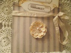 Distress Note Cards With Pocket Decorated And Distress by mslizz, $7.00
