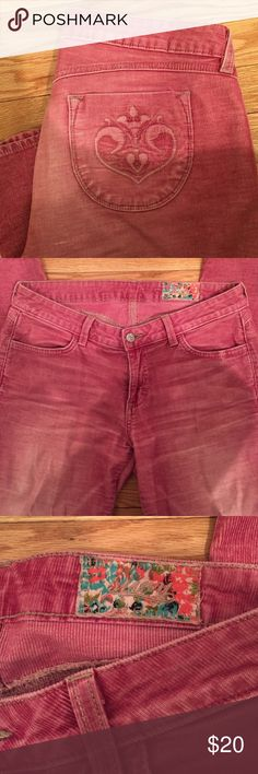 Siwy Hannah Corduroy Pants Red corduroy pant size 29. Skinny pant with faded leg Siwy Pants Ankle & Cropped