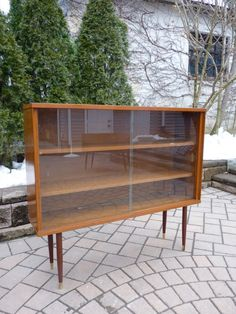 mid century modern china cabinet 2 piece buffet and glass door cabinet via etsy sellinu0027 on etsy pinterest modern china cabinet