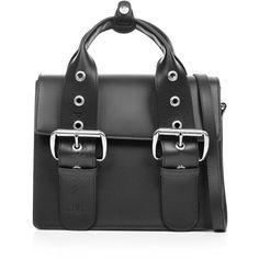 Vivienne Westwood Alex Buckle Shoulder Bag ($505) ❤ liked on Polyvore featuring bags, handbags, shoulder bags, black, handbag purse, man leather shoulder bag, tablet shoulder bag, leather shoulder handbags and hand bags
