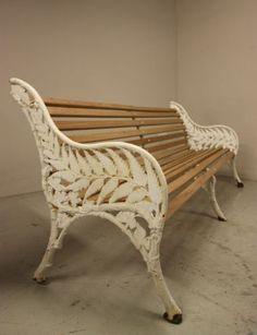 English Antique Cast Iron Garden Bench 2 Available | eBay