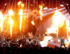 Nickelback is on fire at Van Andel Arena in Grand Rapids, Mich., Feb. 24. (Jim Hill)