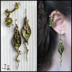 Viel gebogener Draht und Perlen machen hervorragende Ohrschmücker.