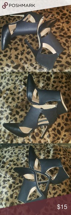 Trendy Ankle Boots. Side peep. Gently worn. Great condition. Show stopper Shoes Ankle Boots & Booties