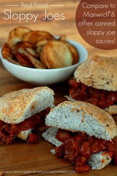Real Food Sloppy Joes :: Compare to Manwich & Other Canned Sloppy Joe Sauces!