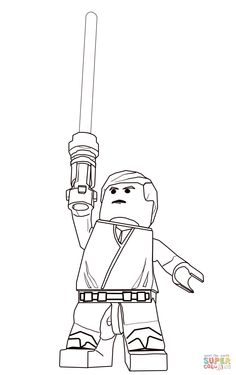 Lego Star Wars Luke Skywalker Coloring Page From Category Select 21360 Printable Crafts Of Cartoons Nature Animals Bible And Many