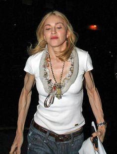 Madonna without photoshop or airbrushing Madonna, Celebrity Look, Celebrity Pictures, Awkward Moments, Pop Singers, Super Skinny, Being Ugly, Movie Stars, Celebs