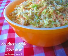 Style Coleslaw + How to make the dressing to go on it! {Granny's Recipe} Southern Style Coleslaw + How to make the dressing that goes on it! Southern Dishes, Southern Recipes, Southern Food, Southern Comfort, Southern Quotes, Southern Women, Southern Belle, Southern Fried Catfish, Granny's Recipe