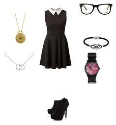"""""""Untitled #256"""" by mrs-grant-guston ❤ liked on Polyvore featuring CHEAPO, GlassesUSA, Head Over Heels by Dune, Jewel Exclusive, Blue Nile and 1928"""