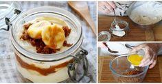 ¡Sin horno! CHEESECAKE super fácil de banana y dulce de leche