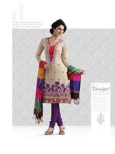 Exquisite Bttercream Salwar Kameez | StylishKart.com