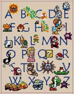 Super Mario Bros. Alphabet :D
