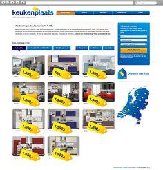 Klant: Keukenplaats. Gerealiseerd door Webbees: webdesign en technische realisatie. www.keukensduitsland.nl