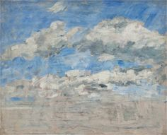 Study of the Sky, Eugène Boudin circa 1888 - 1895 / via: MuMa - Musée d'art moderne André Malraux Le Havre, France / DesimoneWayland