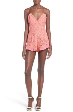 NBD 'Heaven on Earth' Strappy Lace Romper