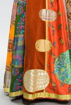 patchwork dress detail
