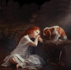 Cavalier King Charles Spaniel with child Cavalier King Charles, King Charles Spaniel, Animals For Kids, Animals And Pets, Cute Animals, Tableaux Vivants, Girl And Dog, Pics Art, Beautiful Children