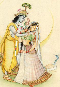 Lord Krishna with Radha