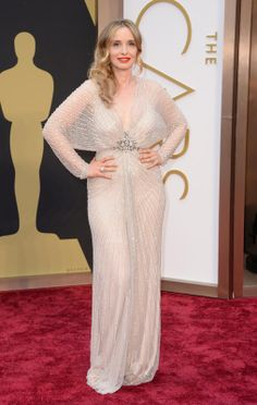 Julie Delpy arrives at the 86th Annual Academy Awards at the Dolby Theatre in Hollywood on March 2, 2014. (Jordan Strauss/Invision/AP)