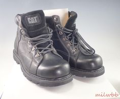 """Men's CAT Steel Toe Safety Boot 6"""" P89422 8.5E Mortar #CAT #WorkSafety"""