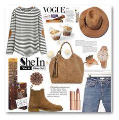 """shein"" by biljana-miric-ex-tomic ❤ liked on Polyvore featuring RE/DONE, Eugenia Kim, Anja, FOSSIL, Charlotte Tilbury, Bottega Veneta and WALL"