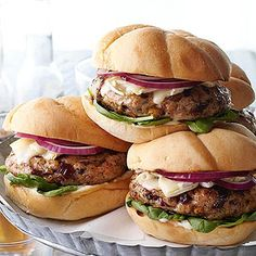 Rosemary-Brie Chicken Burgers From Better Homes and Gardens, ideas and improvement projects for your home and garden plus recipes and entertaining ideas.