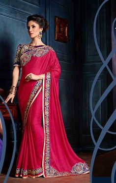 fc31fdabd112c0 Shop for Pink georgette embroidered saree   Rs 2