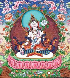 Vajrayana visualization involves holding rich and detailed images of Deities such as White Tara.