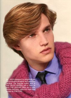 """Jules Hamilton in """"Worshop"""" by Collier Schorr for Fantastic Man Fall Winter 2013-2014"""
