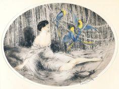 Louis Icart 'Parrots' 1925