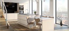 Cassiopeia kjøkken - DESIGNA Divider, Dining Table, Room, Furniture, Kitchens, Home Decor, Bedroom, Decoration Home, Room Decor