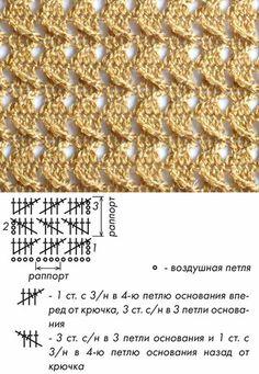 Мелкорапортный узор для вязания крючком