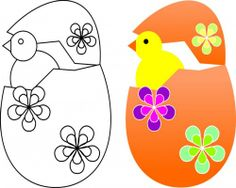 FREE #Easter chick coloring page for #children.  Can you color your Easter Egg like mine?