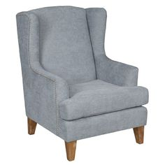 A sophisticated addition to your living room or den seating group, this lovely arm chair showcases nailhead trim and a wingback silhouette.