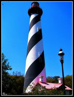 St. Augustine Lighthouse is located at 81 Lighthouse Avenue on the north end of Anastasia Island in St. Augustine, Florida. Built in 1874 of brick the St. Augustine Lighthouse is 163 feet high making it the 8th tallest lighthouse in the USA. The lighthouse is supposedly haunted and episodes of the TV show Ghost